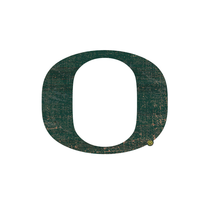"Oregon Distressed Logo Cutout 24"" Sign"