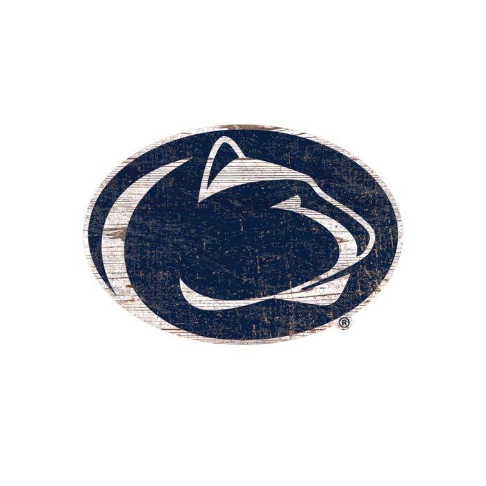 "Penn State Distressed Logo Cutout 24"" Sign"