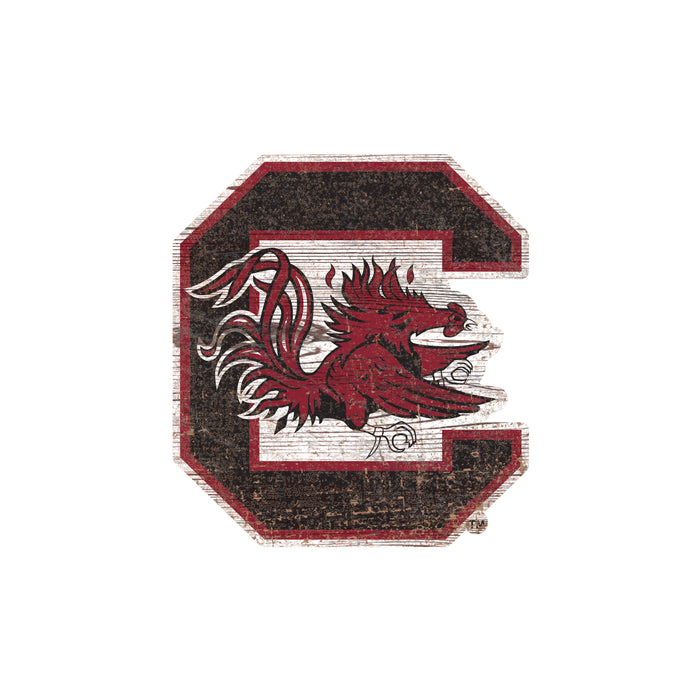 "South Carolina Distressed Logo Cutout 24"" Sign"