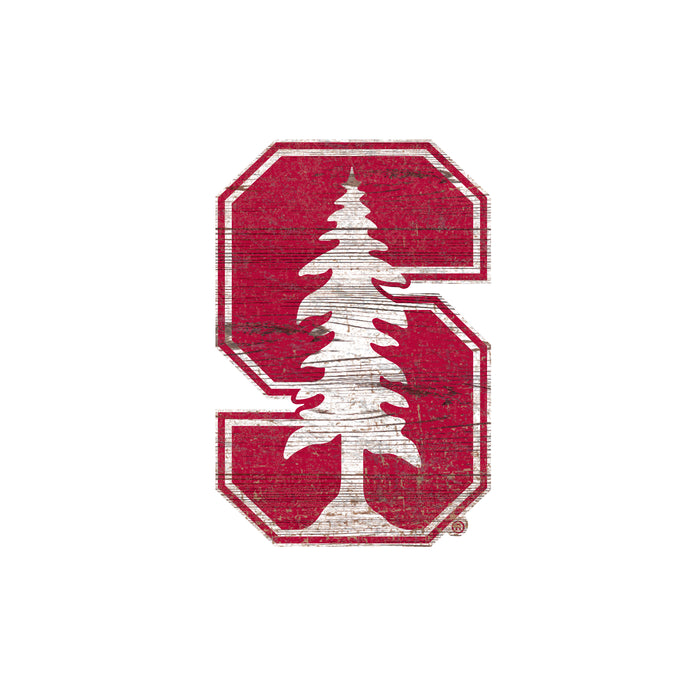 "Stanford Distressed Logo Cutout 24"" Sign"
