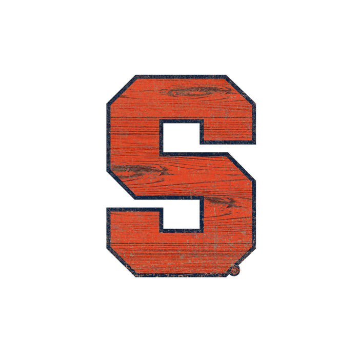 "Syracuse Distressed Logo Cutout 24"" Sign"
