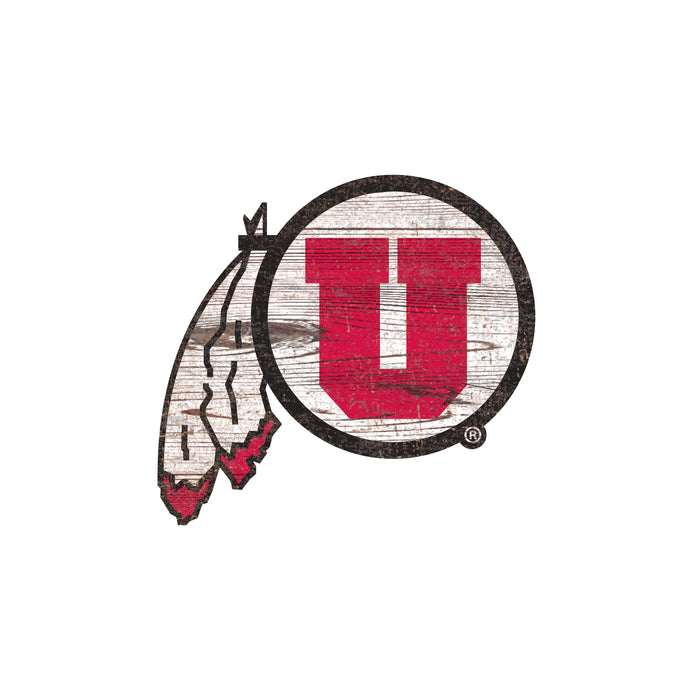 "Utah Distressed Logo Cutout 24"" Sign"