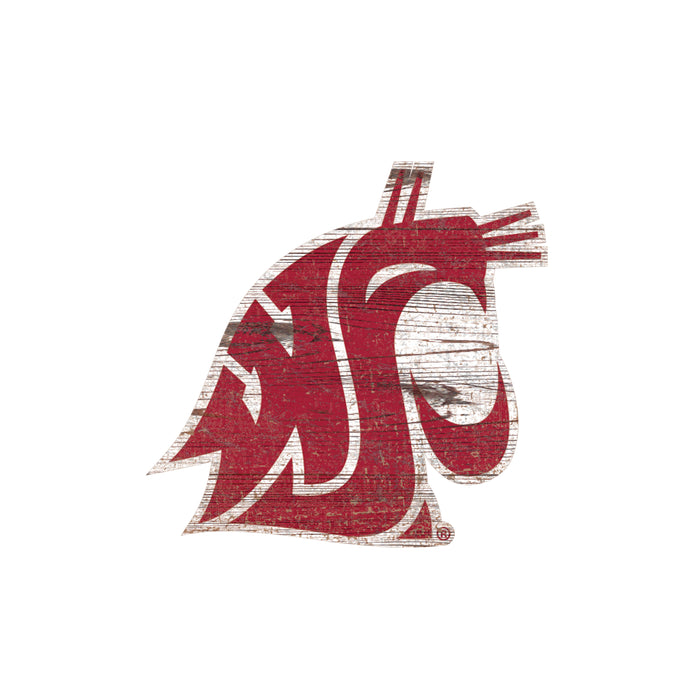 "Washington State Distressed Logo Cutout 24"" Sign"