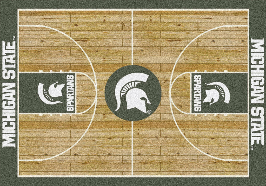 Michigan State Rug Team Home Court - Fan Cave Rugs