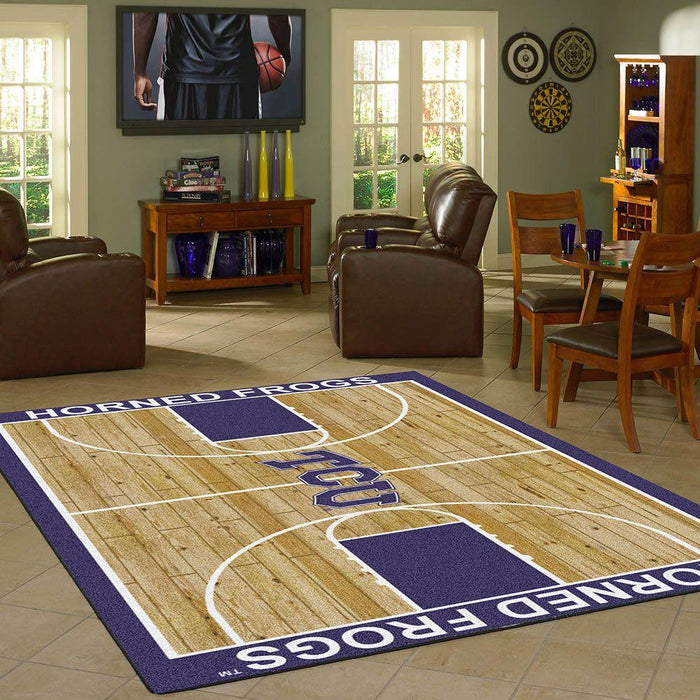 Texas Christian Rug Team Home Court