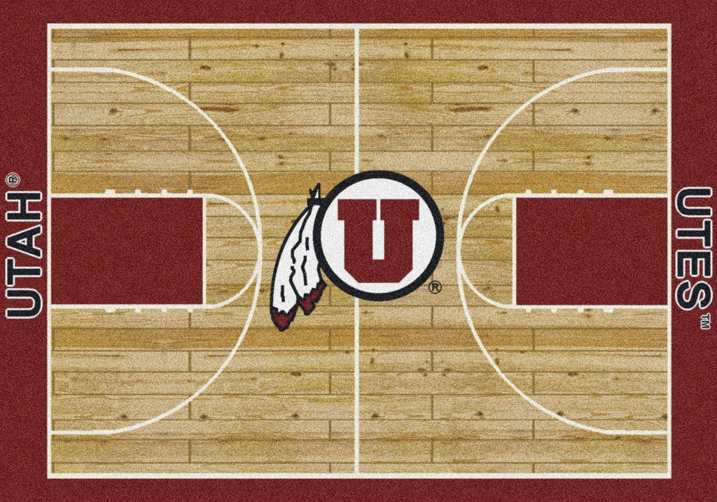 Utah Rug Team Home Court - Fan Cave Rugs
