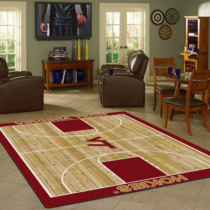 Virginia Tech Rug Team Home Court - Fan Cave Rugs