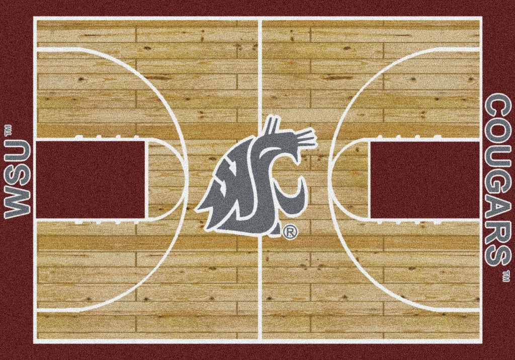 Washington State Rug Team Home Court - Fan Cave Rugs