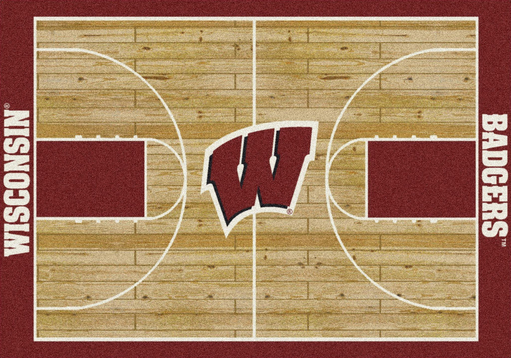 Wisconsin Rug Team Home Court - Fan Cave Rugs
