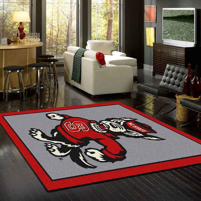 North Carolina State Rug Team Spirit Gray
