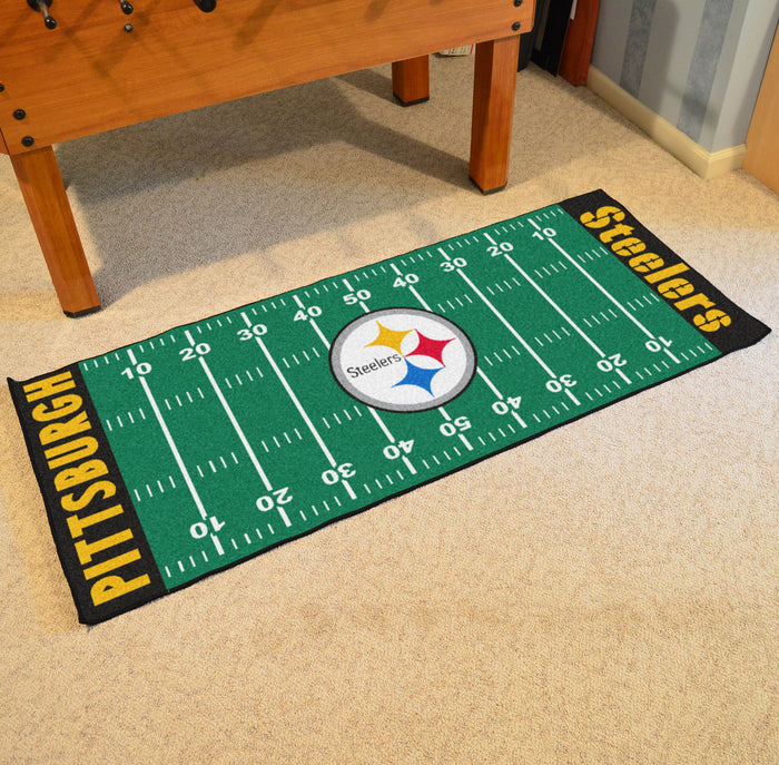 "NFL - Pittsburgh Steelers Runner 30""x72"" - Fan Cave Rugs"