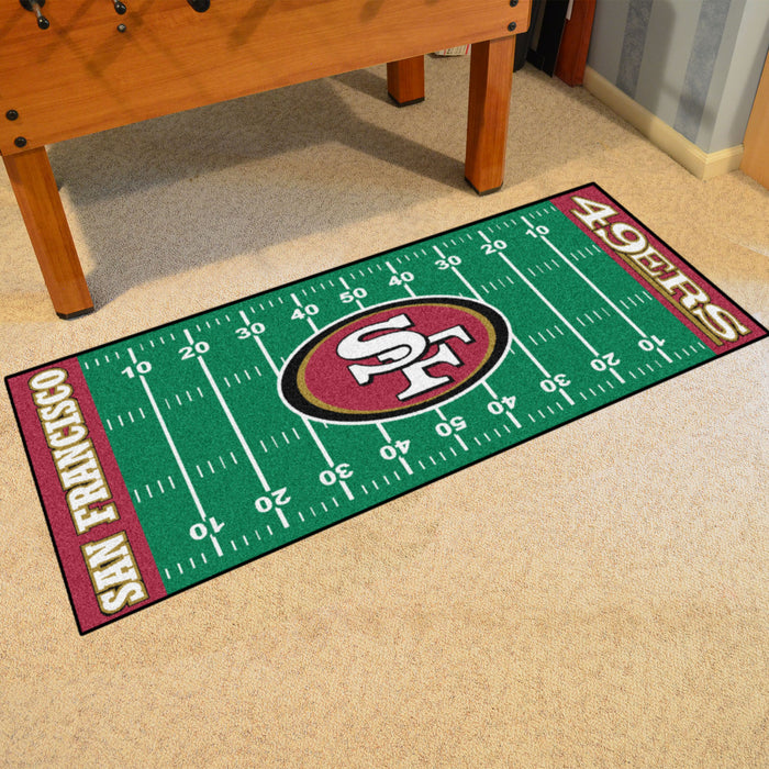 "NFL - San Francisco 49ers Runner 30""x72"" - Fan Cave Rugs"