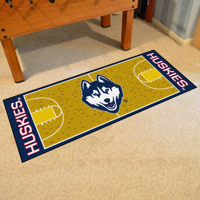"Connecticut Basketball Court Runner 30""x72"" - Fan Cave Rugs"