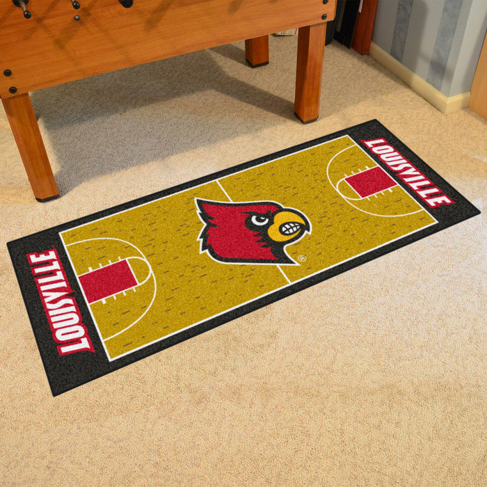 "Louisville Basketball Court Runner 30""x72"" - Fan Cave Rugs"