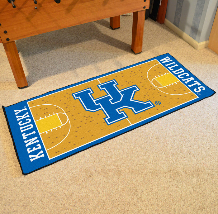 "Kentucky Basketball Court Runner 30""x72"" - Fan Cave Rugs"