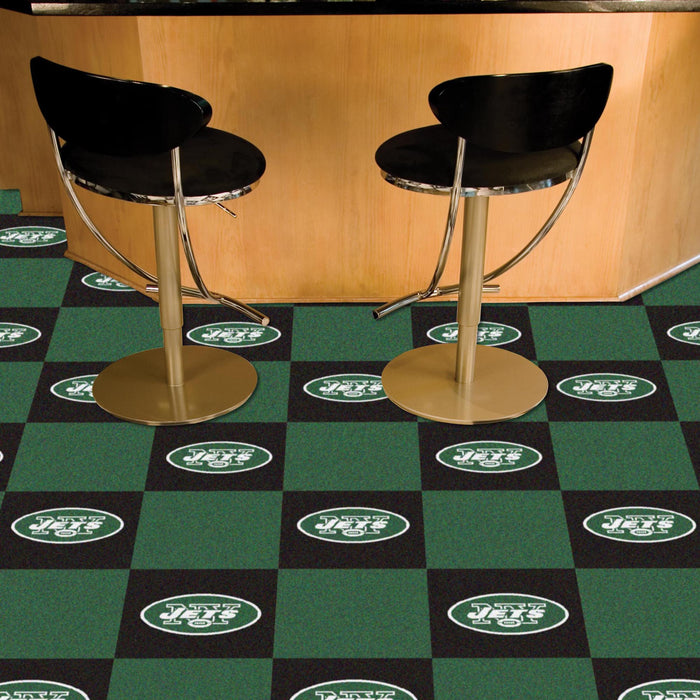 "NFL - New York Jets 18""x18"" Carpet Tiles - Fan Cave Rugs"