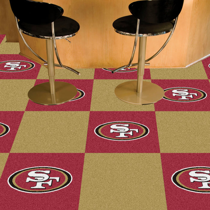 "NFL - San Francisco 49ers 18""x18"" Carpet Tiles"