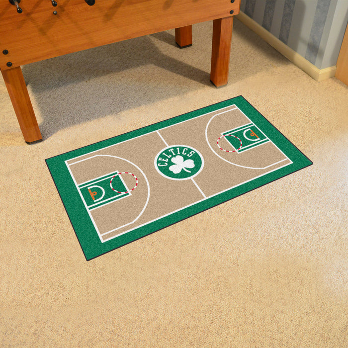 NBA - Boston Celtics Large Court Runner 29.5x54 - Fan Cave Rugs