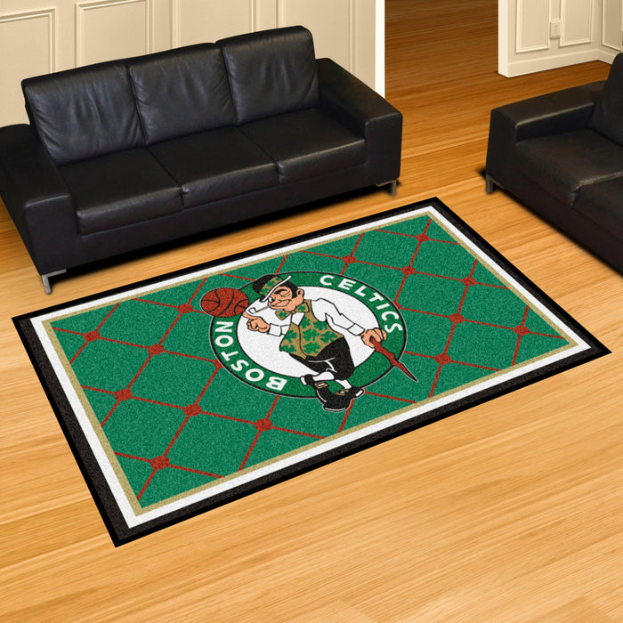 "NBA - Boston Celtics Rug  5'x7'4"" - Fan Cave Rugs"