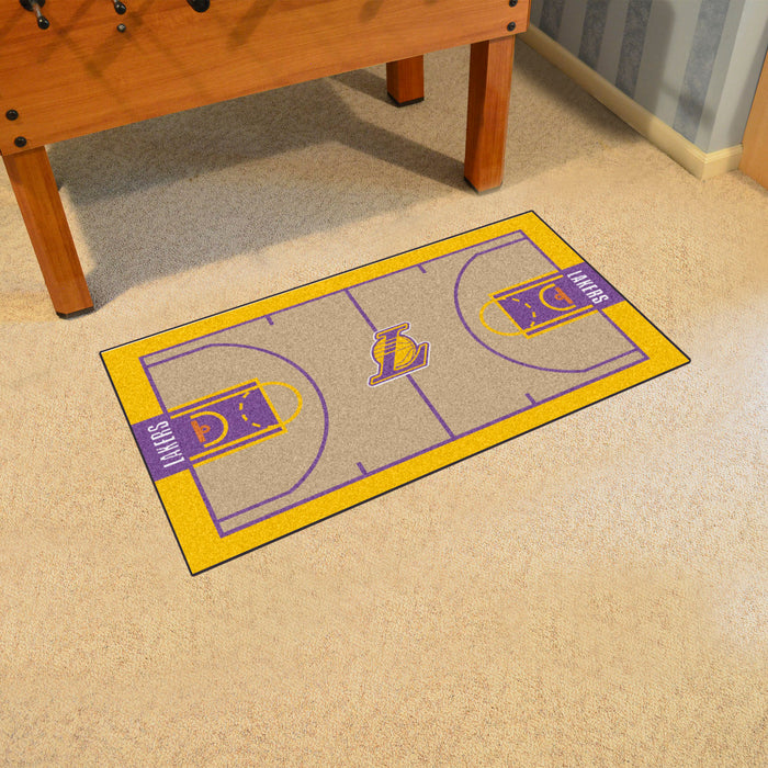 NBA - Los Angeles Lakers Large Court Runner 29.5x54 - Fan Cave Rugs