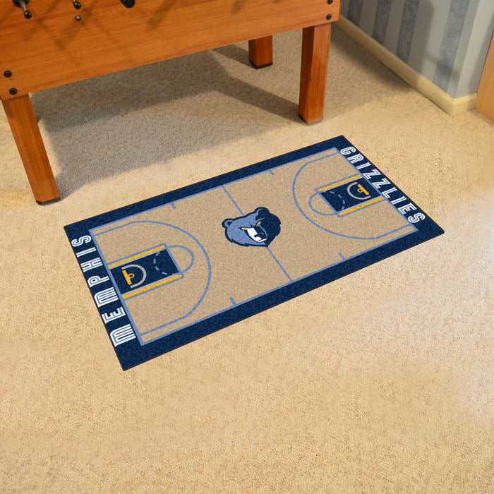 NBA - Memphis Grizzlies Large Court Runner 29.5x54 - Fan Cave Rugs