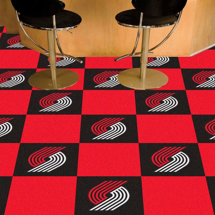 "NBA - Portland Trail Blazers 18""x18"" Carpet Tiles"