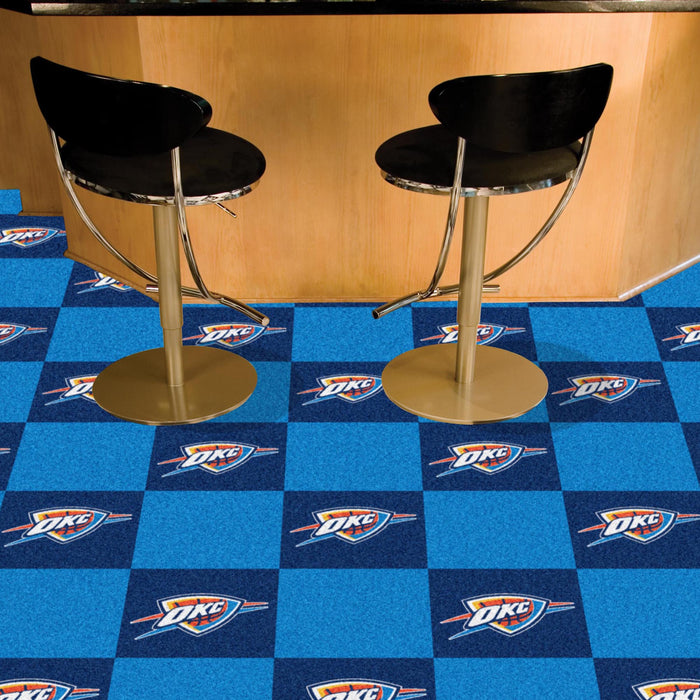 "NBA - Oklahoma City Thunder 18""x18"" Carpet Tiles"