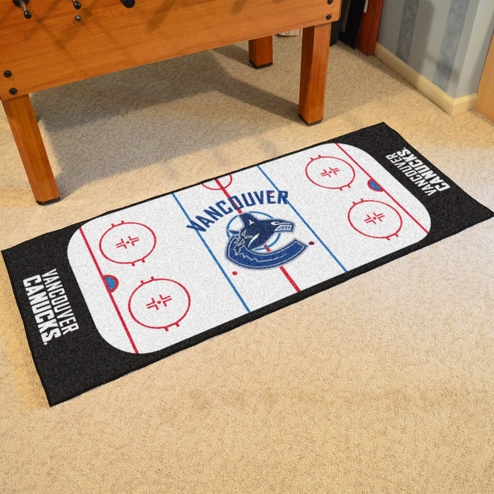 "NHL - Vancouver Canucks Rink Runner 30""x72"" - Fan Cave Rugs"