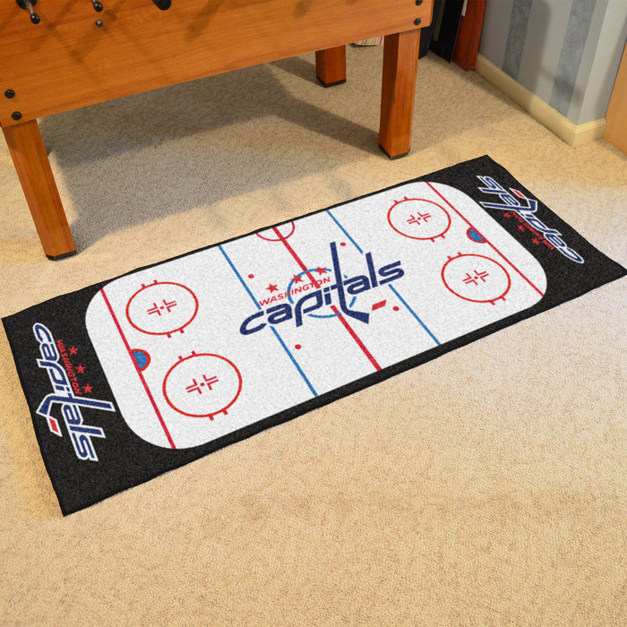 "NHL - Washington Capitals Rink Runner 30""x72"" - Fan Cave Rugs"
