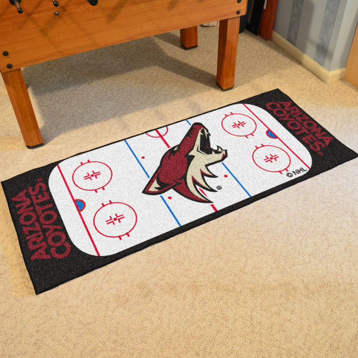 "NHL - Arizona Coyotes Rink Runner 30""x72"" - Fan Cave Rugs"