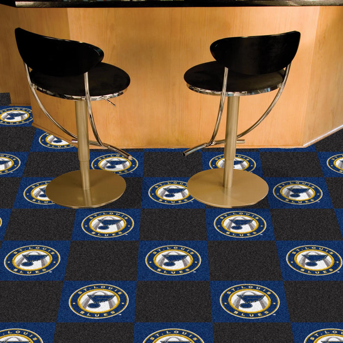 "NHL - St. Louis Blues 18""x18"" Carpet Tiles"