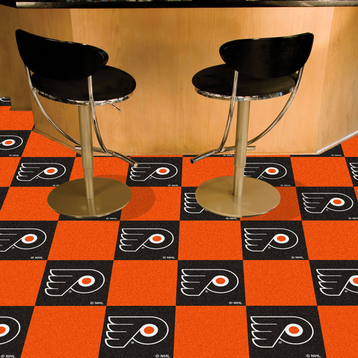 "NHL - Philadelphia Flyers 18""x18"" Carpet Tiles"