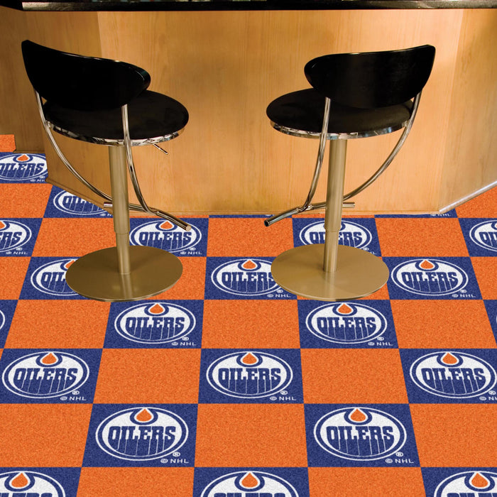 "NHL - Edmonton Oilers 18""x18"" Carpet Tiles"