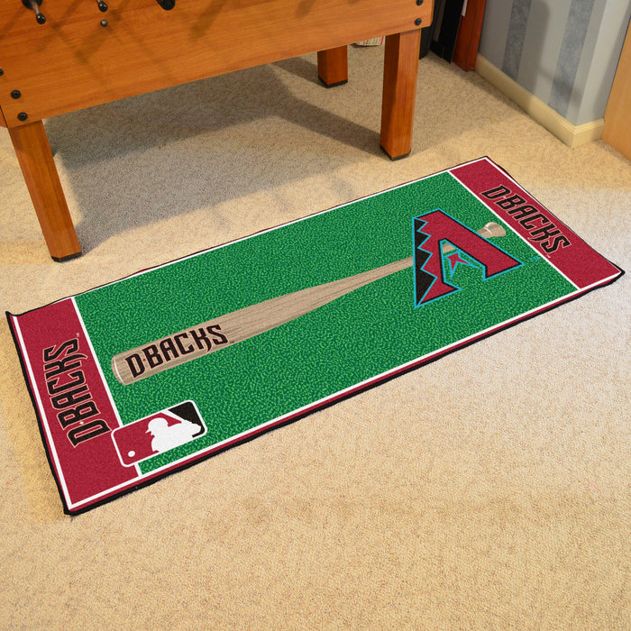 "MLB - Arizona Diamondbacks Baseball Runner 30""x72"" - Fan Cave Rugs"