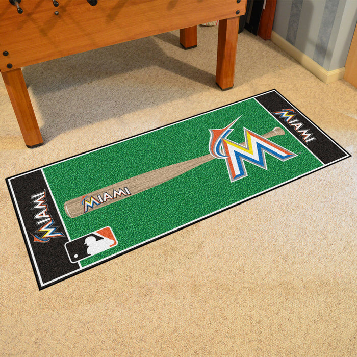 "MLB - Miami Marlins Baseball Runner 30""x72"""