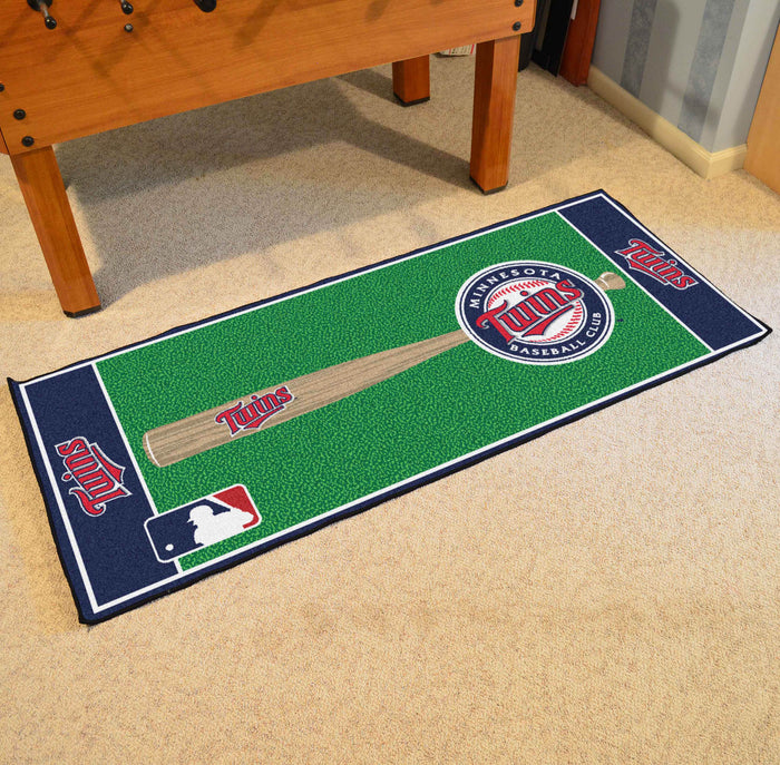 "MLB - Minnesota Twins Baseball Runner 30""x72"" - Fan Cave Rugs"