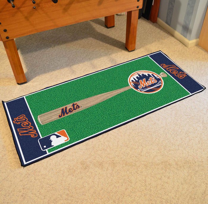 "MLB - New York Mets Baseball Runner 30""x72"" - Fan Cave Rugs"