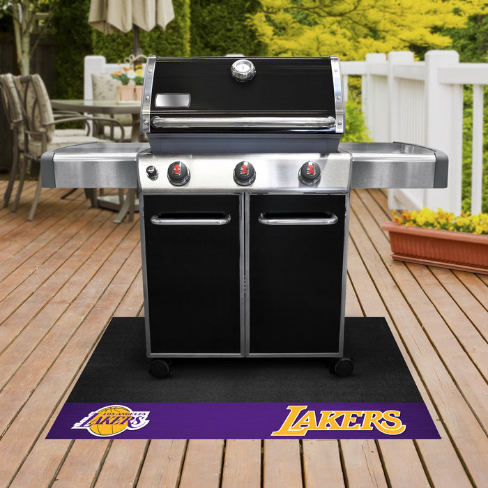 "NBA - Los Angeles Lakers Grill Mat 26""x42"" - Fan Cave Rugs"