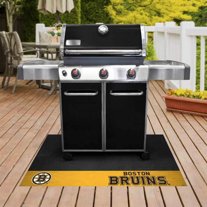 "NHL - Boston Bruins Grill Mat 26""x42"" - Fan Cave Rugs"
