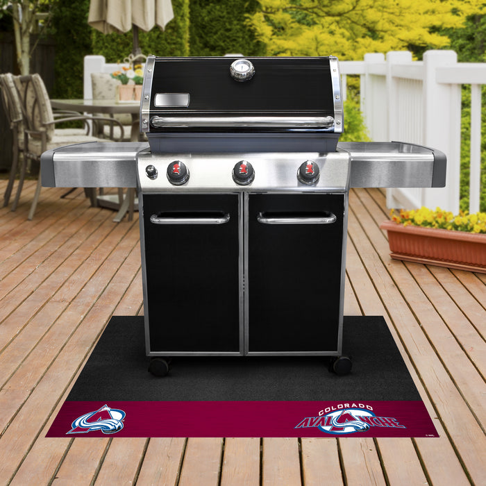 "NHL - Colorado Avalanche Grill Mat 26""x42"" - Fan Cave Rugs"