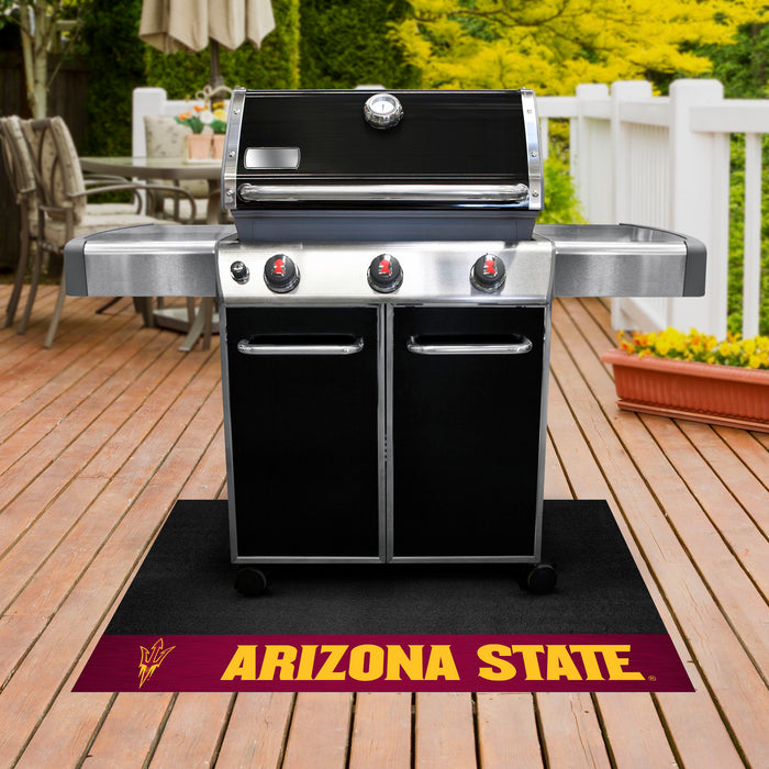 "Arizona State Grill Mat 26""x42"" - Fan Cave Rugs"