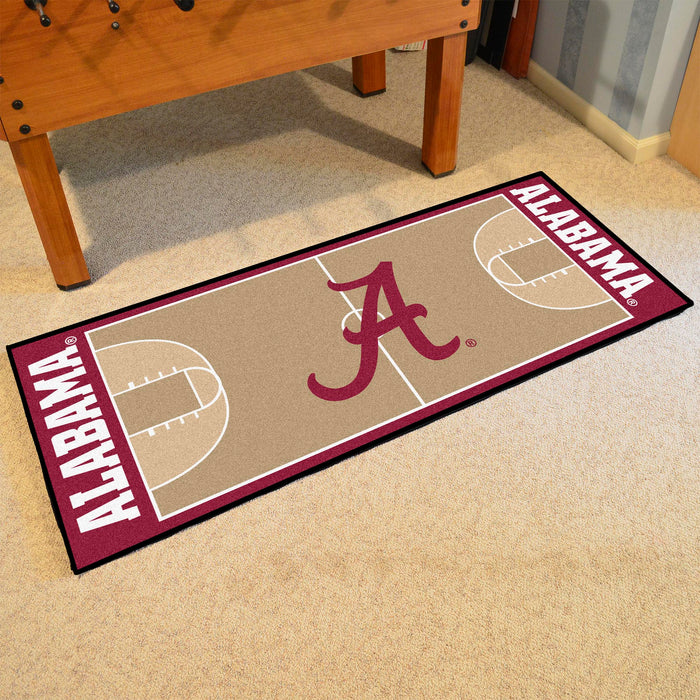 "Alabama Basketball Court Runner 30""x72"" - Fan Cave Rugs"