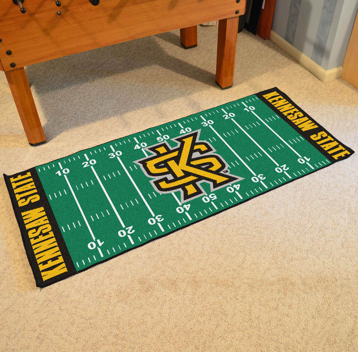 "Kennesaw State Runner 30""x72"" - Fan Cave Rugs"