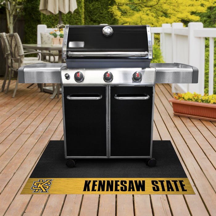 "Kennesaw State Grill Mat 26""x42"" - Fan Cave Rugs"