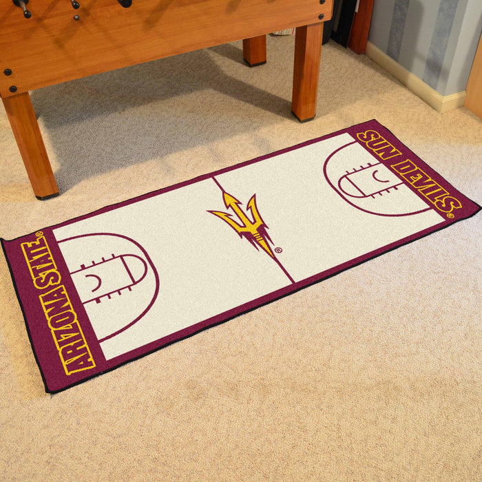 "Arizona State Basketball Court Runner 30""x72"" - Fan Cave Rugs"