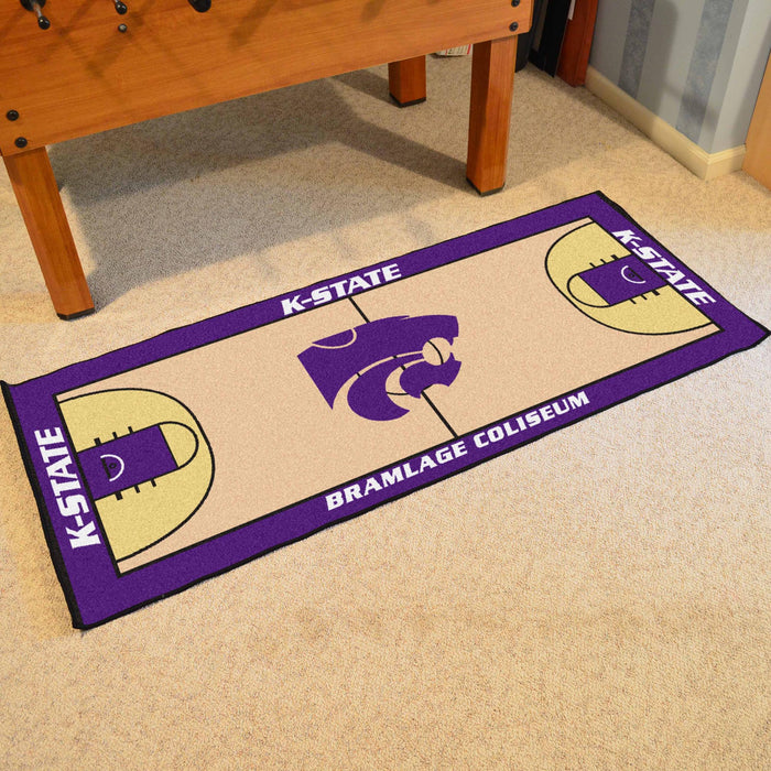 "Kansas State Basketball Court Runner 30""x72"""