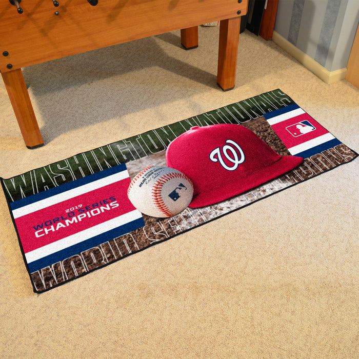 MLB - Washington Nationals  2019 World Series Champions Baseball Runner
