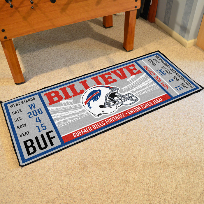 "NFL - Buffalo Bills Ticket Runner 30""x72"""