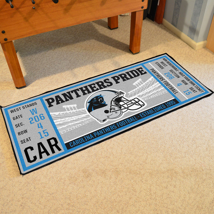 "NFL - Carolina Panthers Ticket Runner 30""x72"""