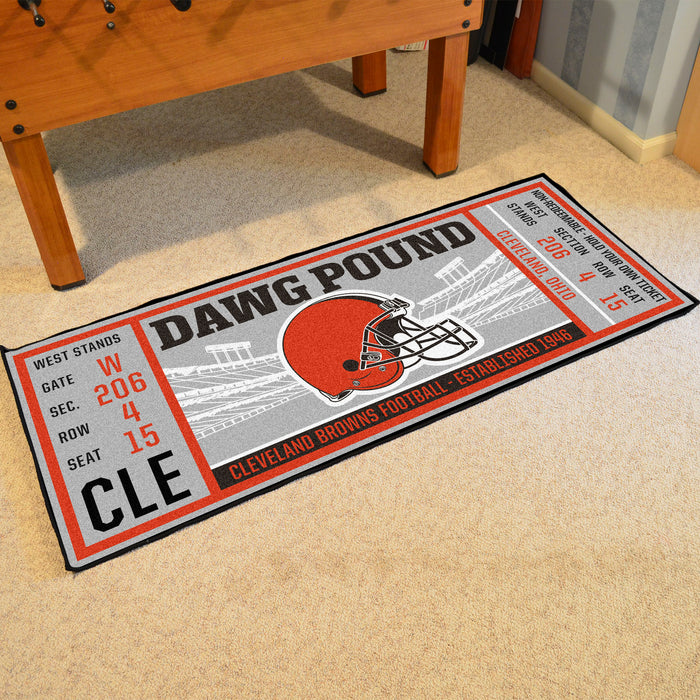 "NFL - Cleveland Browns Ticket Runner 30""x72"""